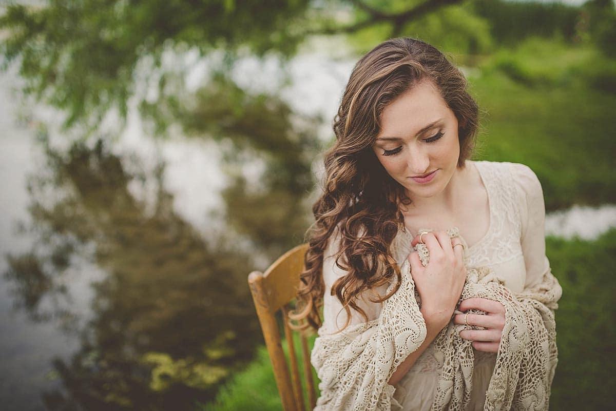 Senior Girl in Woods
