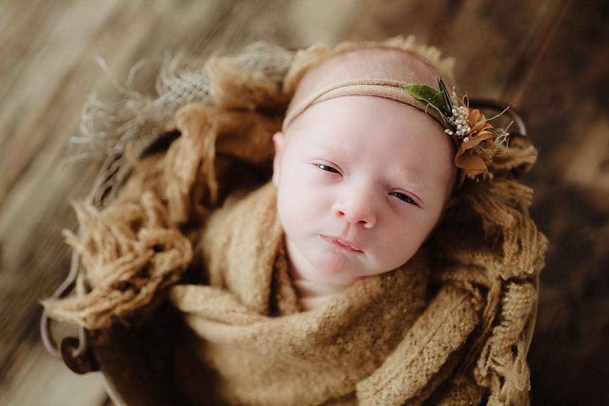 Newborn Girl Tan Headband