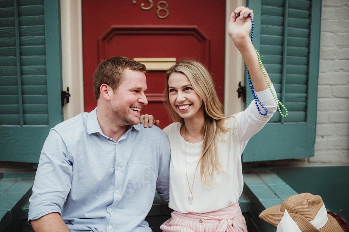 Engagement Couple in French Quarter