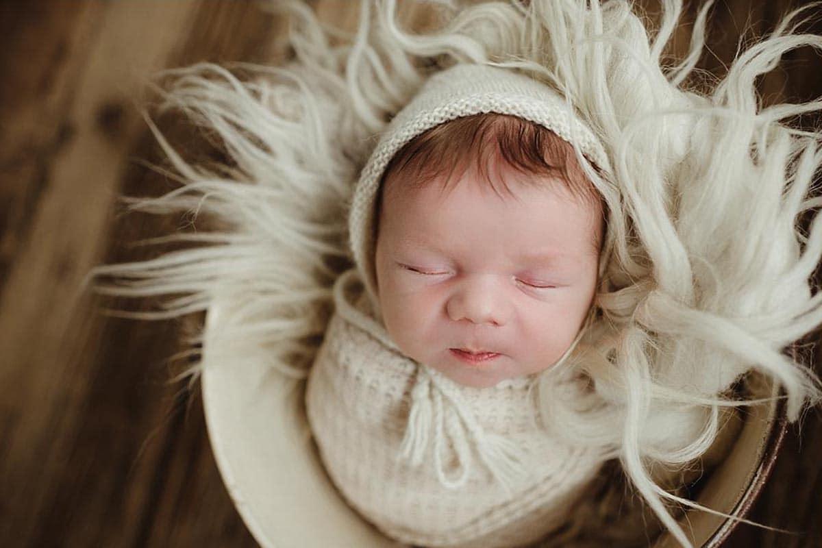 Newborn Boy Ivory Wrap