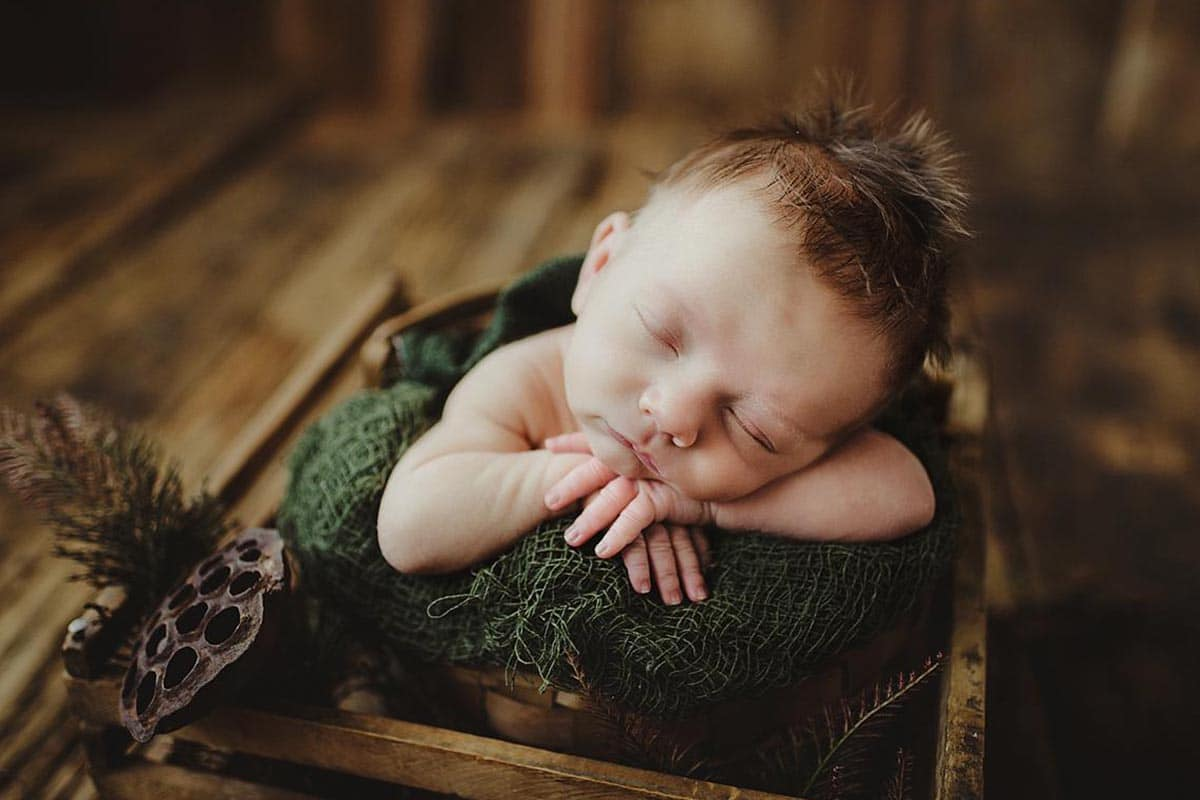 Newborn Boy Green Wrap