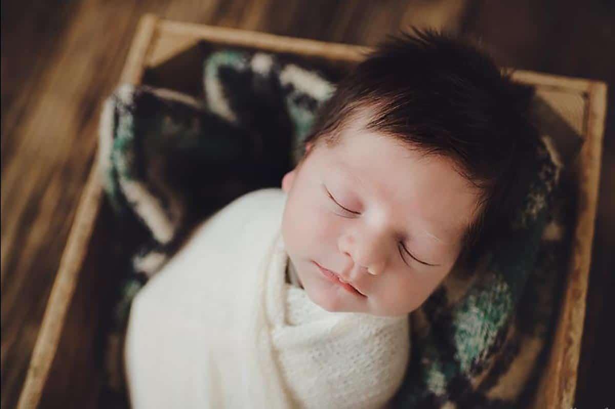 Newborn Boy White Wrap