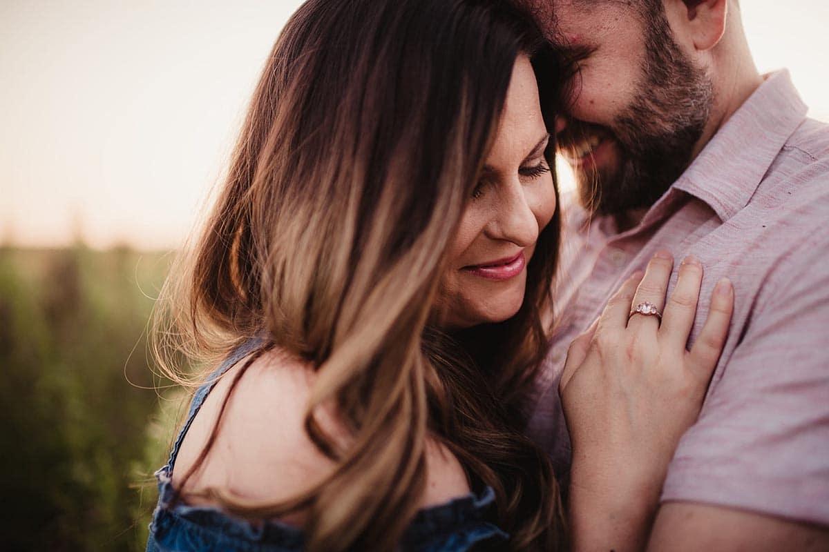 Engagement Couple Close Up
