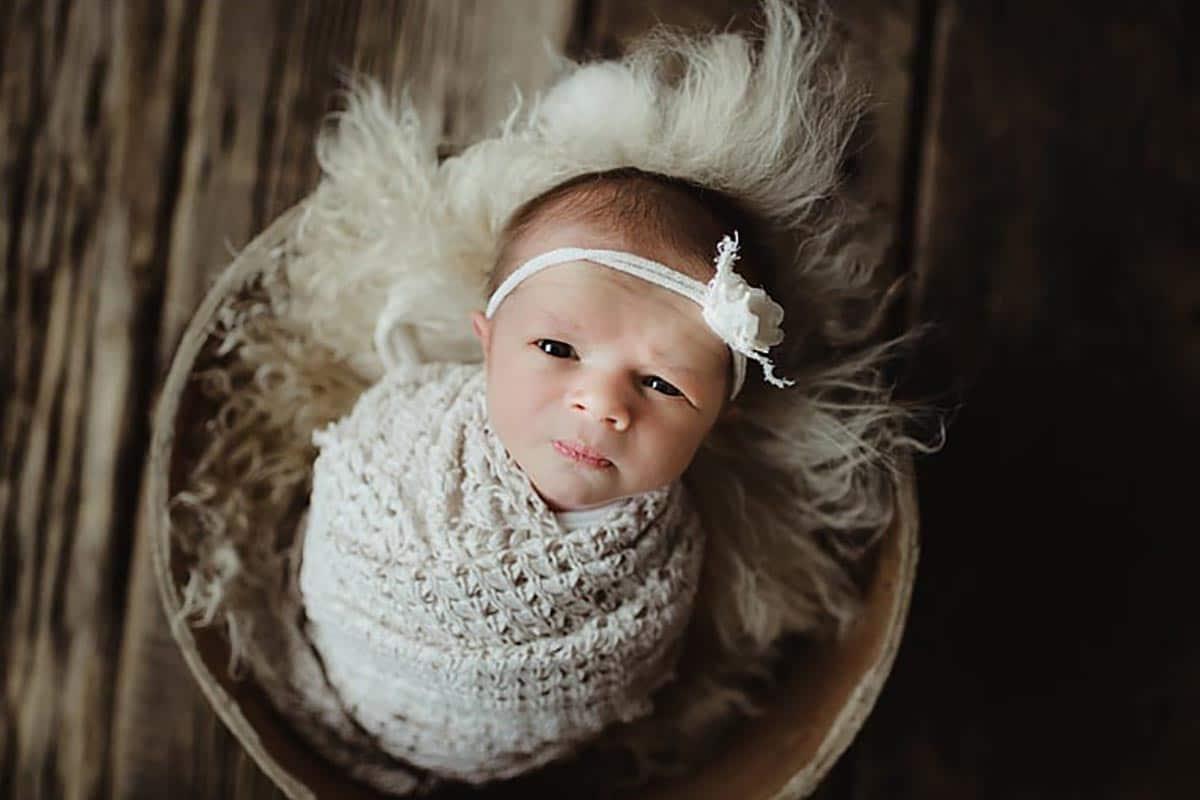 Newborn Girl White Headband