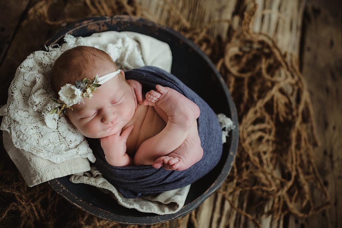 Newborn Girl Blue Wrap