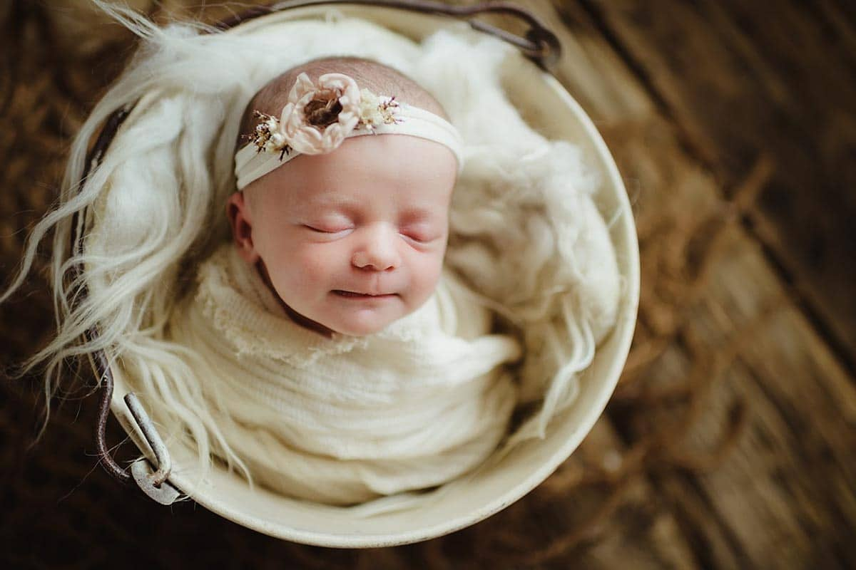 Newborn Girl Ivory Wrap