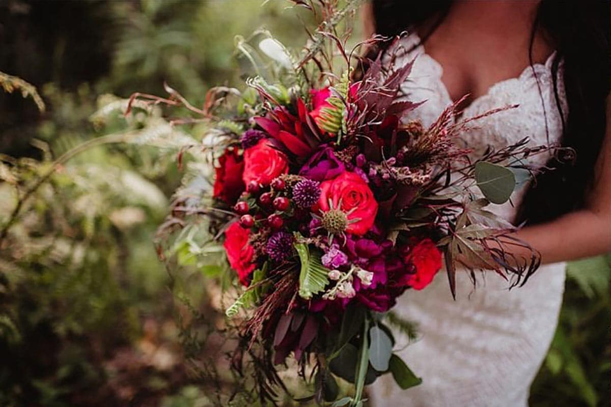 Close Up Bridal Bouquet