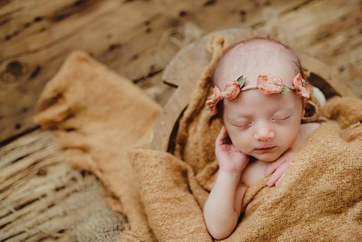 Newborn Girl Peach Headband