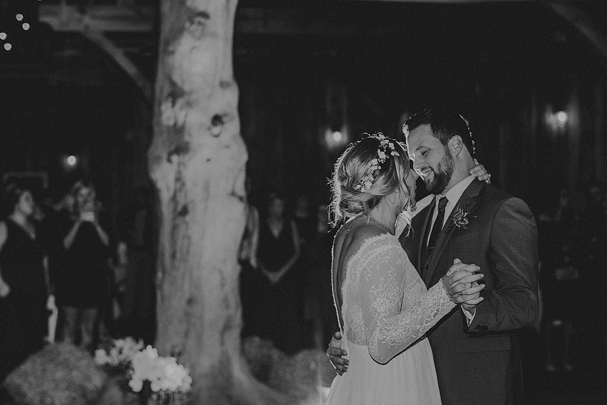 Black and White Image First Dance