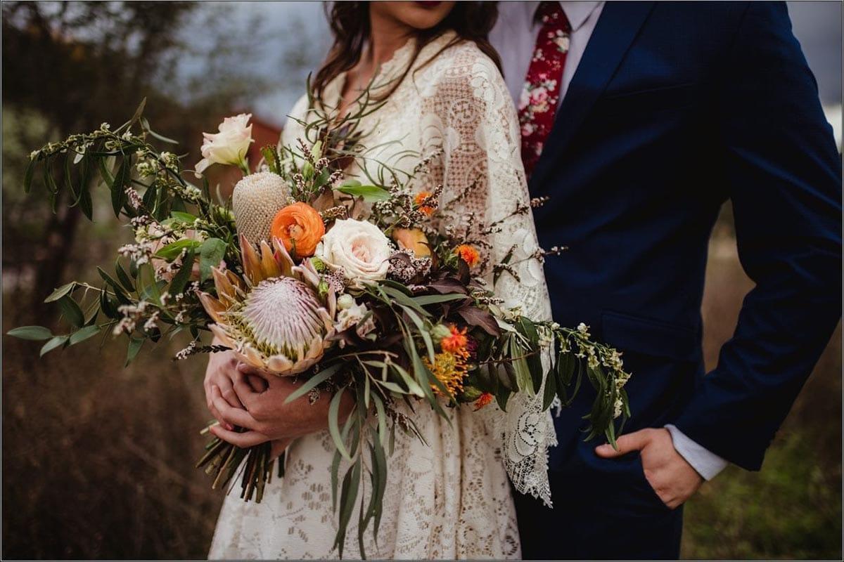 Close Up Bridal Bouquet