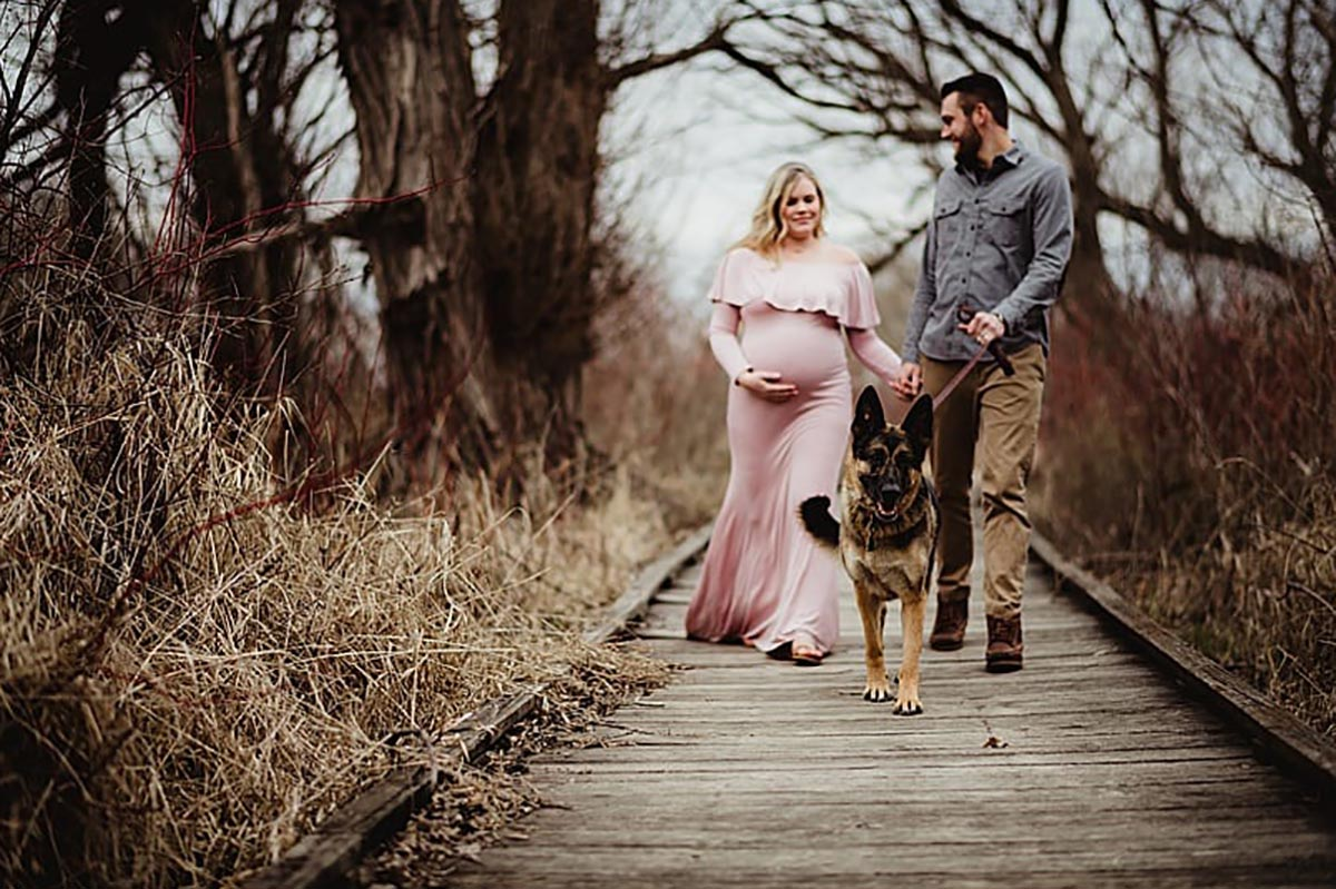Maternity Session with Dog