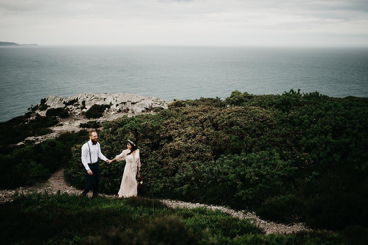 Couple on Cliff Ireland