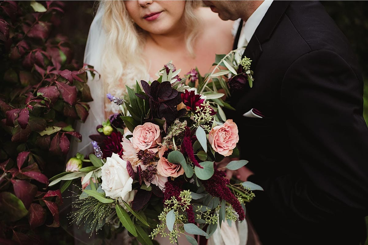 Close Up Bride's Bouquet