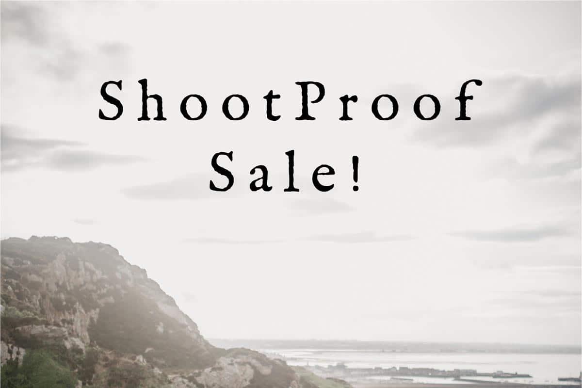 ShootProof Sale