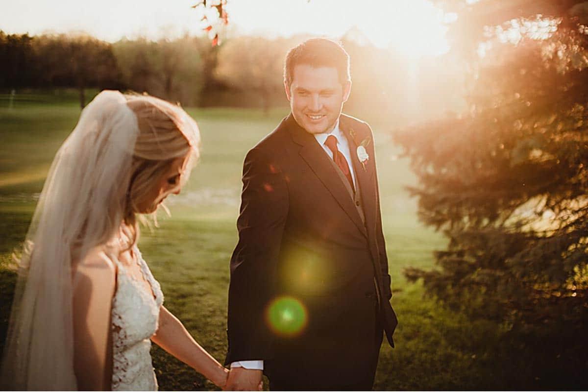 Bride Groom Sunset
