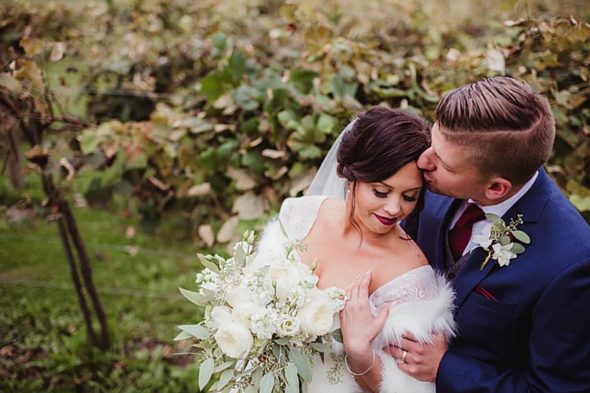 Bride Groom in Vines