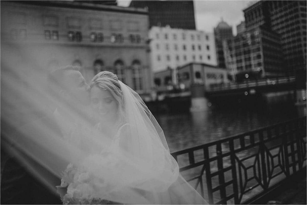 Black White Image Bride Groom