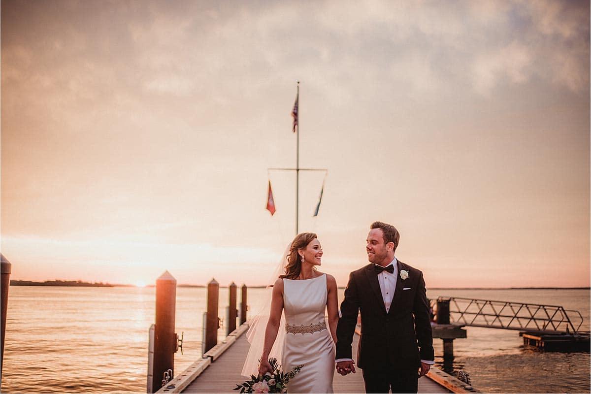 Bride Groom Sunset Pier