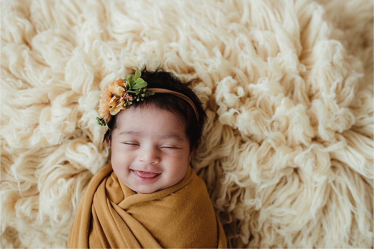 Newborn Smiling Sleeping