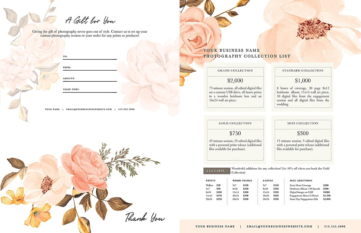 blush marketing set
