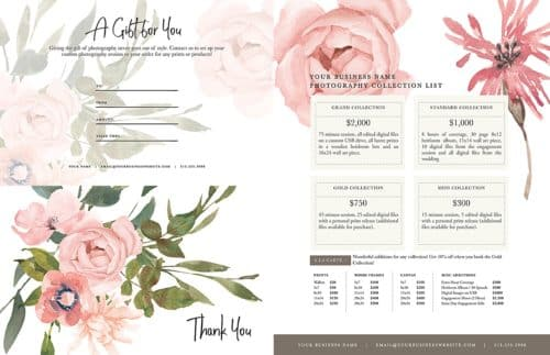floral photography branding