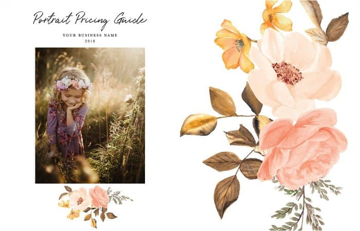 floral photography branding watercolor