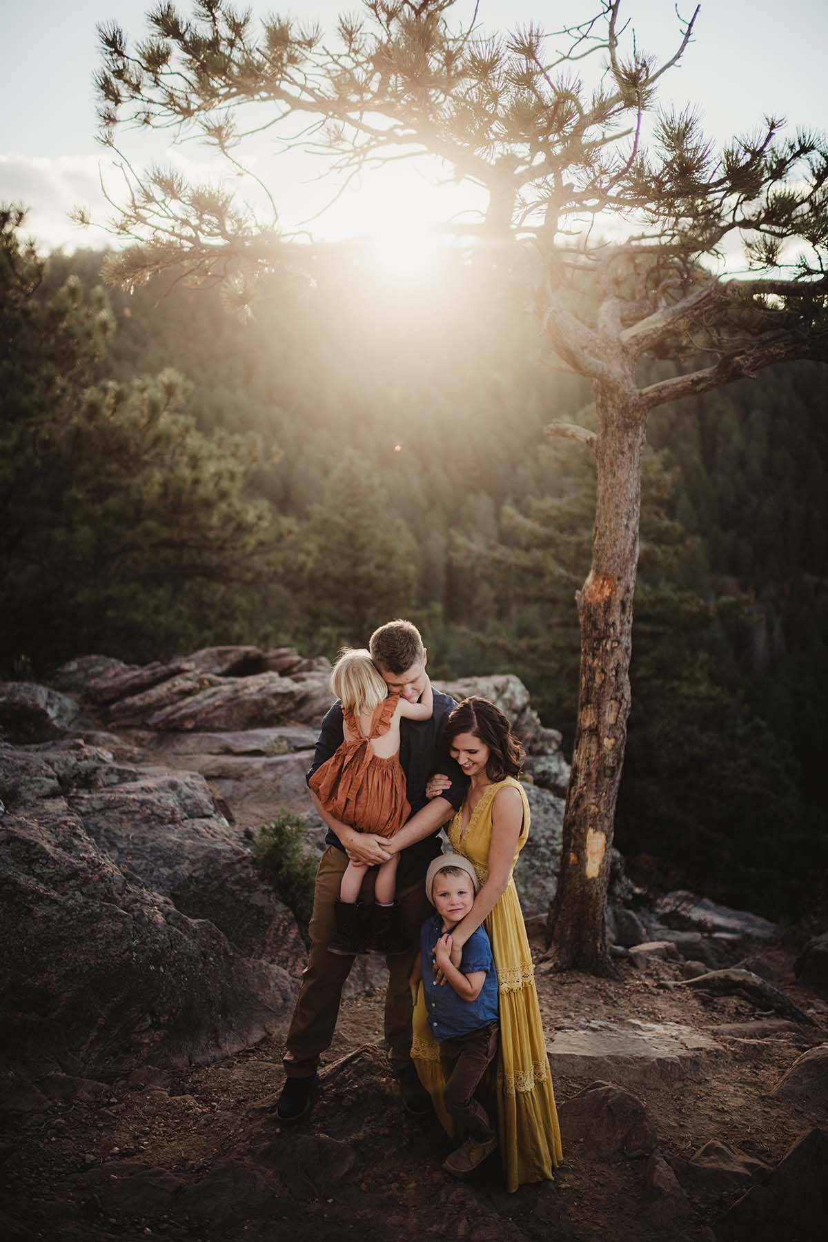 family on a mountaintop