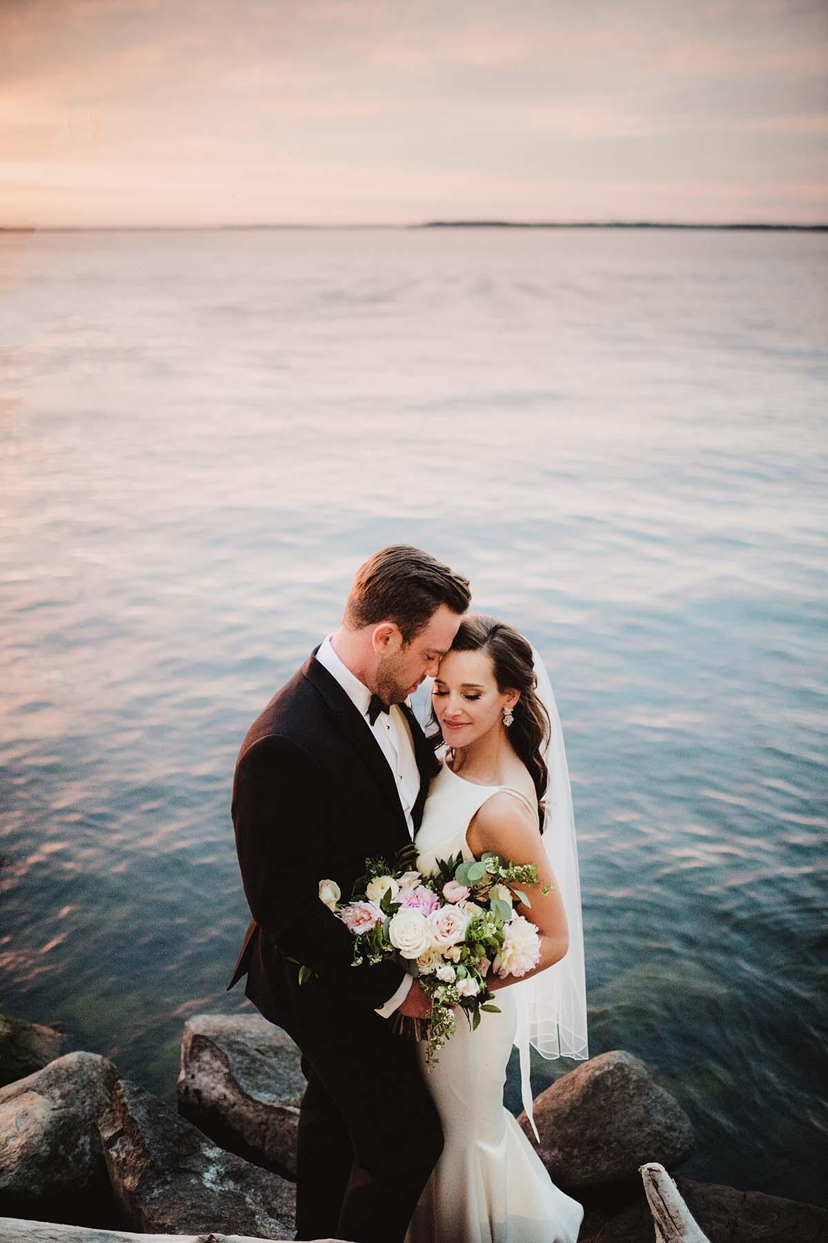 couple near open water