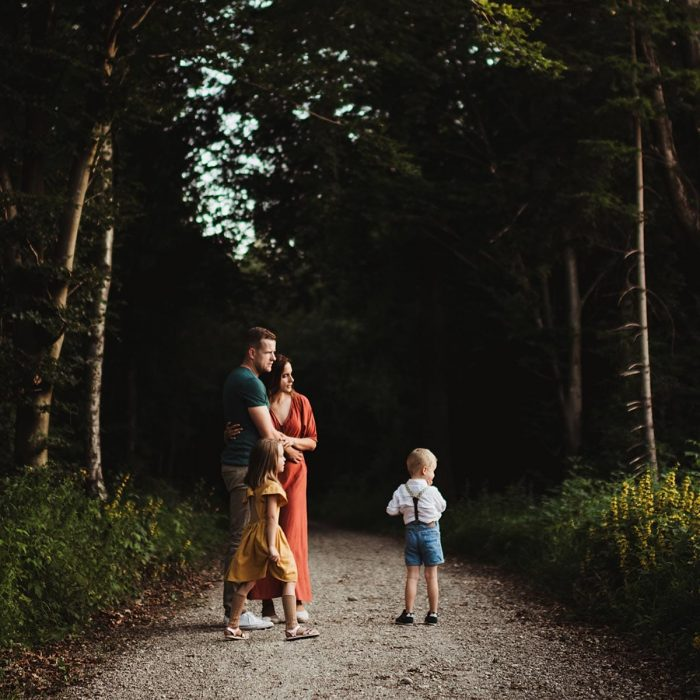 Editing for Consistency with family in warm tones
