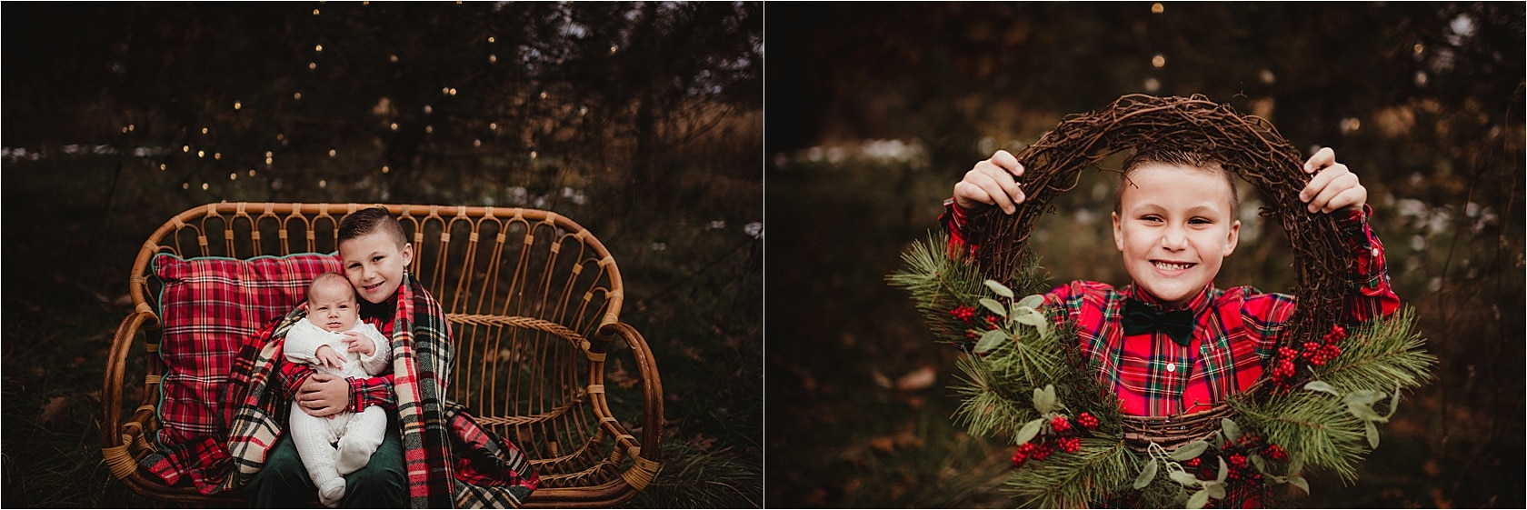 Little Boy with Wreath