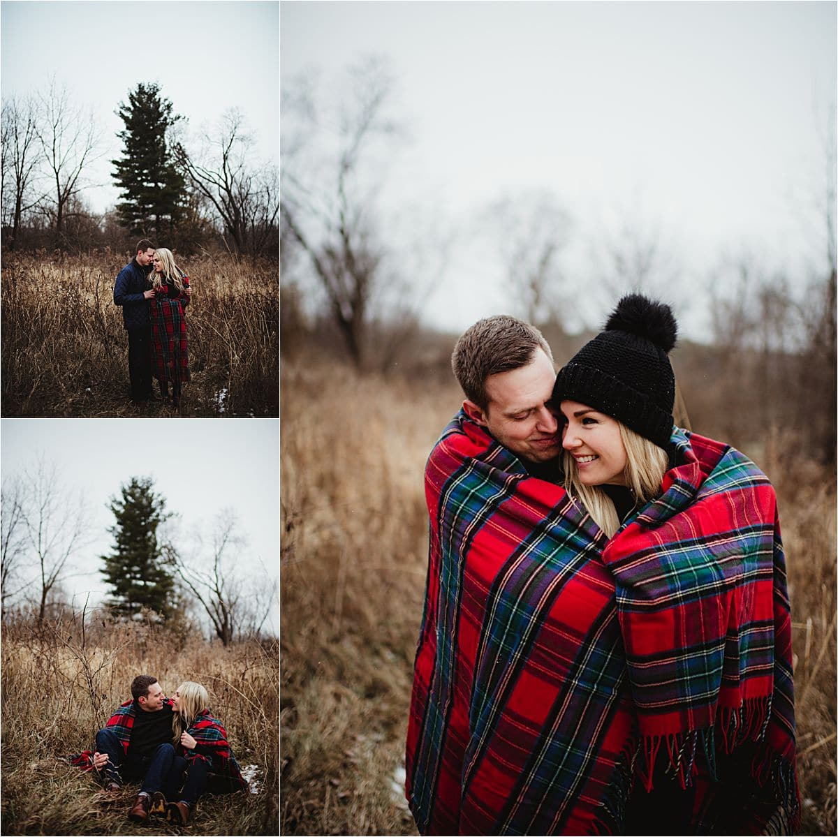 Couple Snuggled up in Quilt