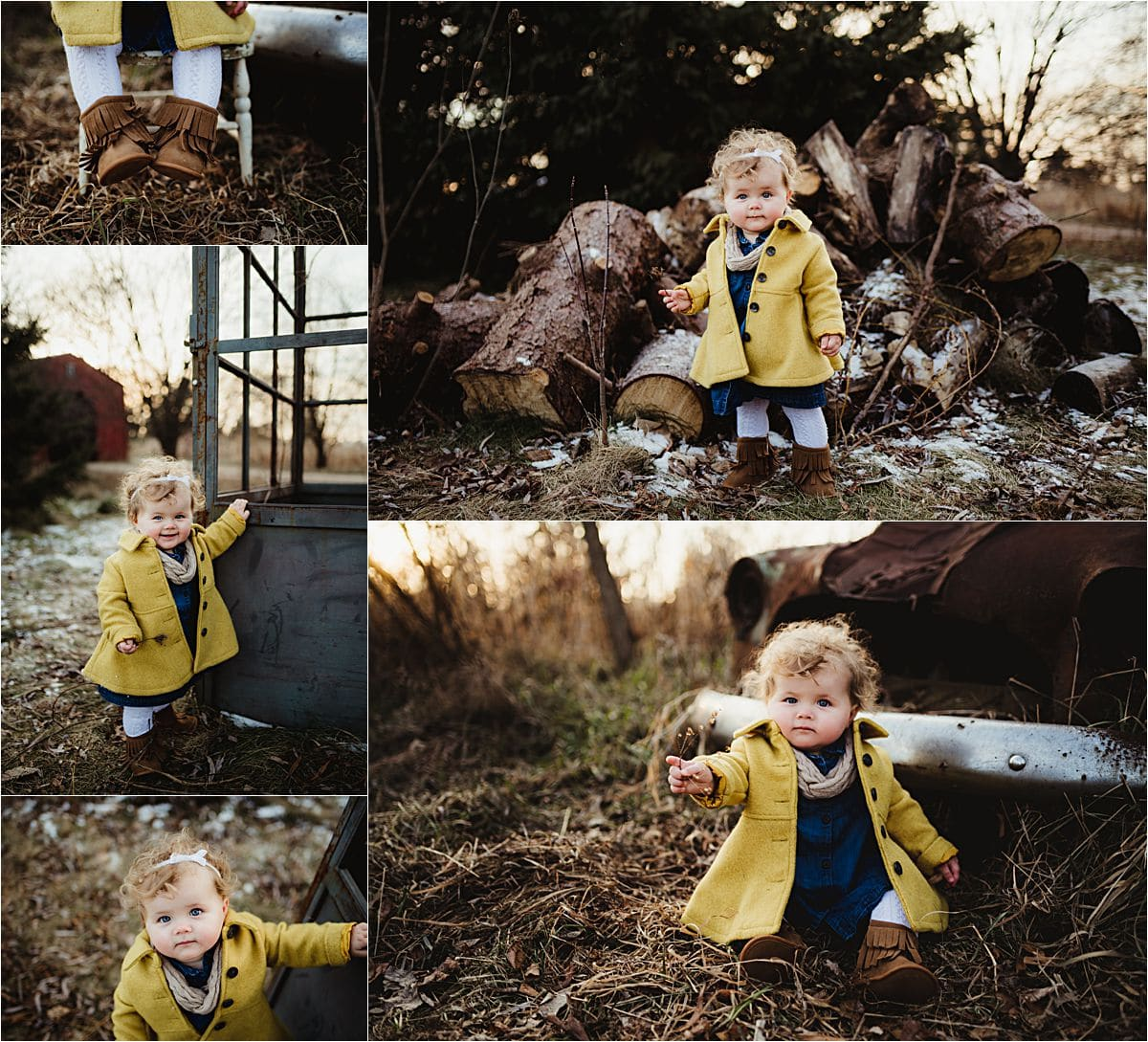 Baby Girl Outdoor Winter Session