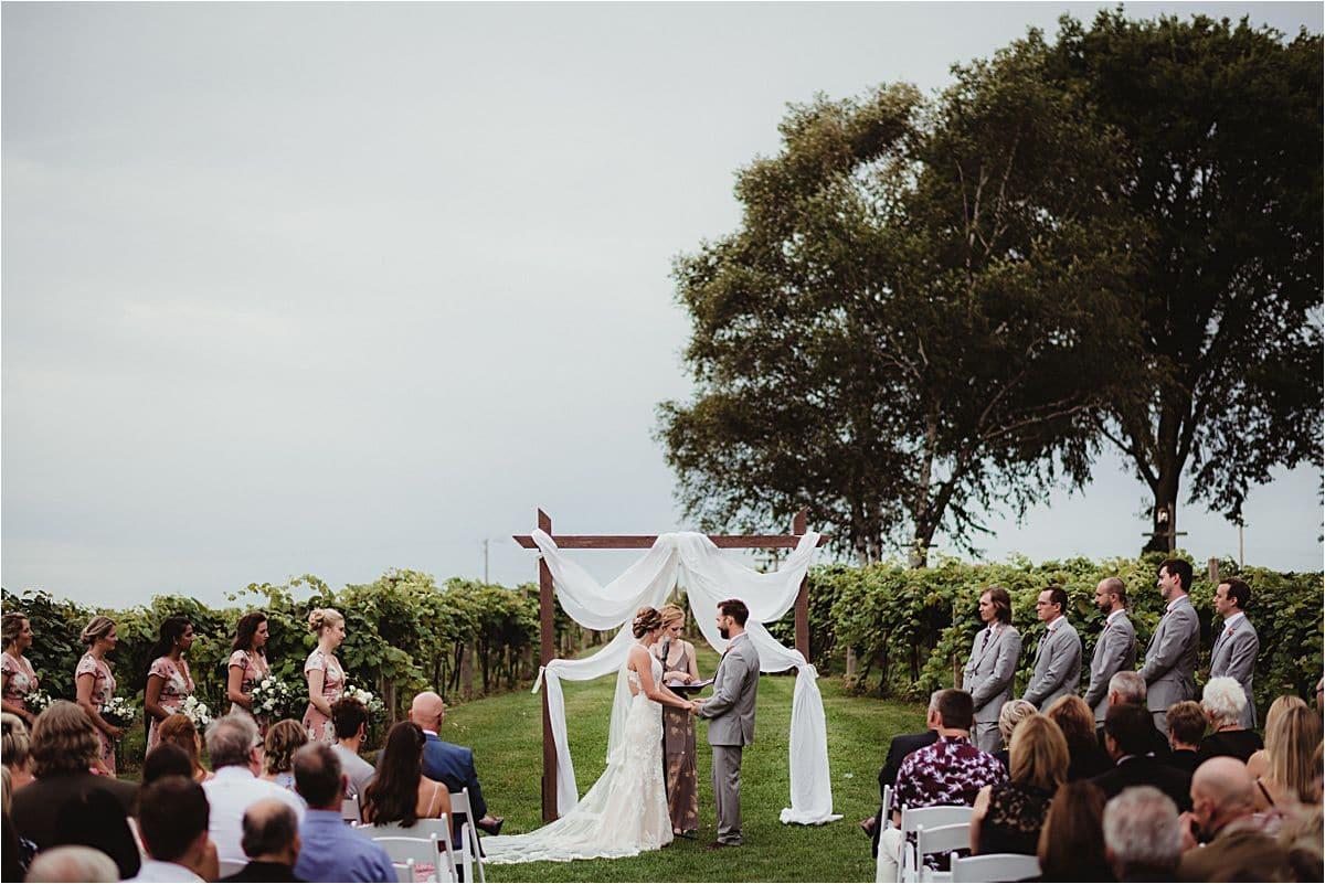 Summer Vineyard Wedding Ceremony