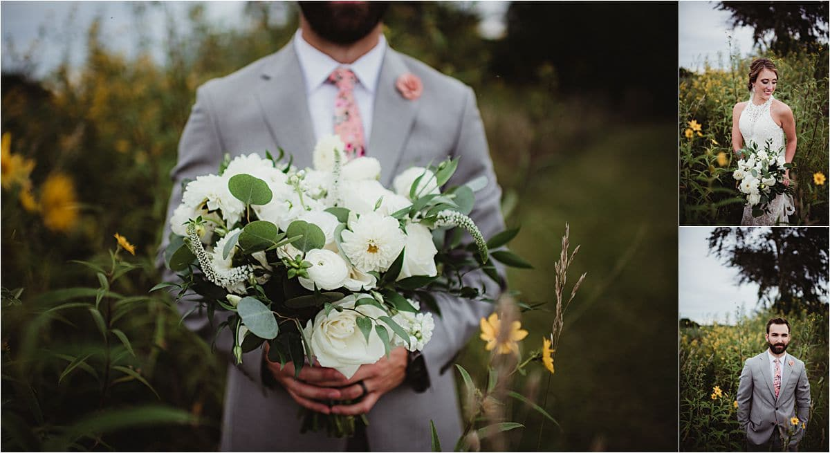 Summer Vineyard Wedding Floral Details