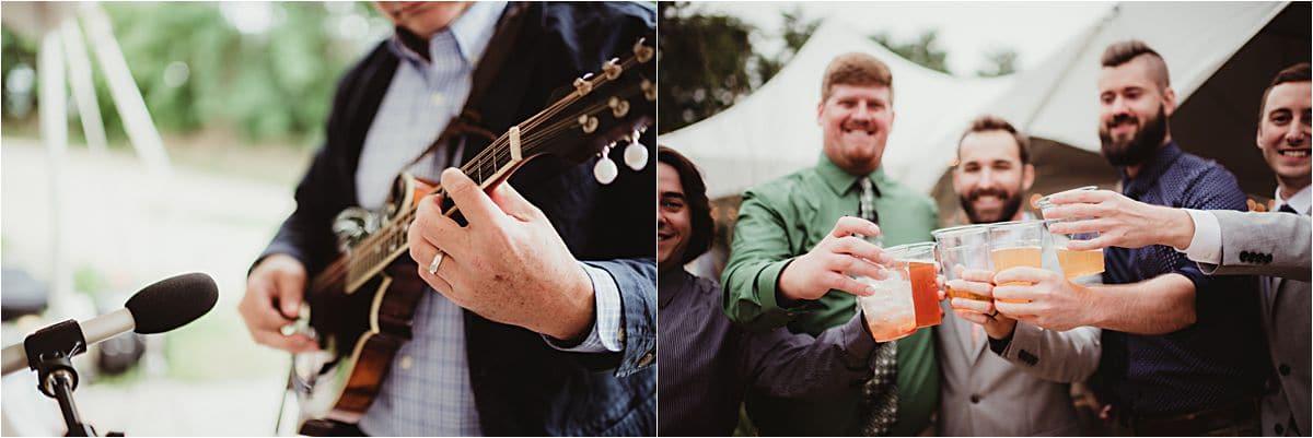 Man Playing Guitar at Reception