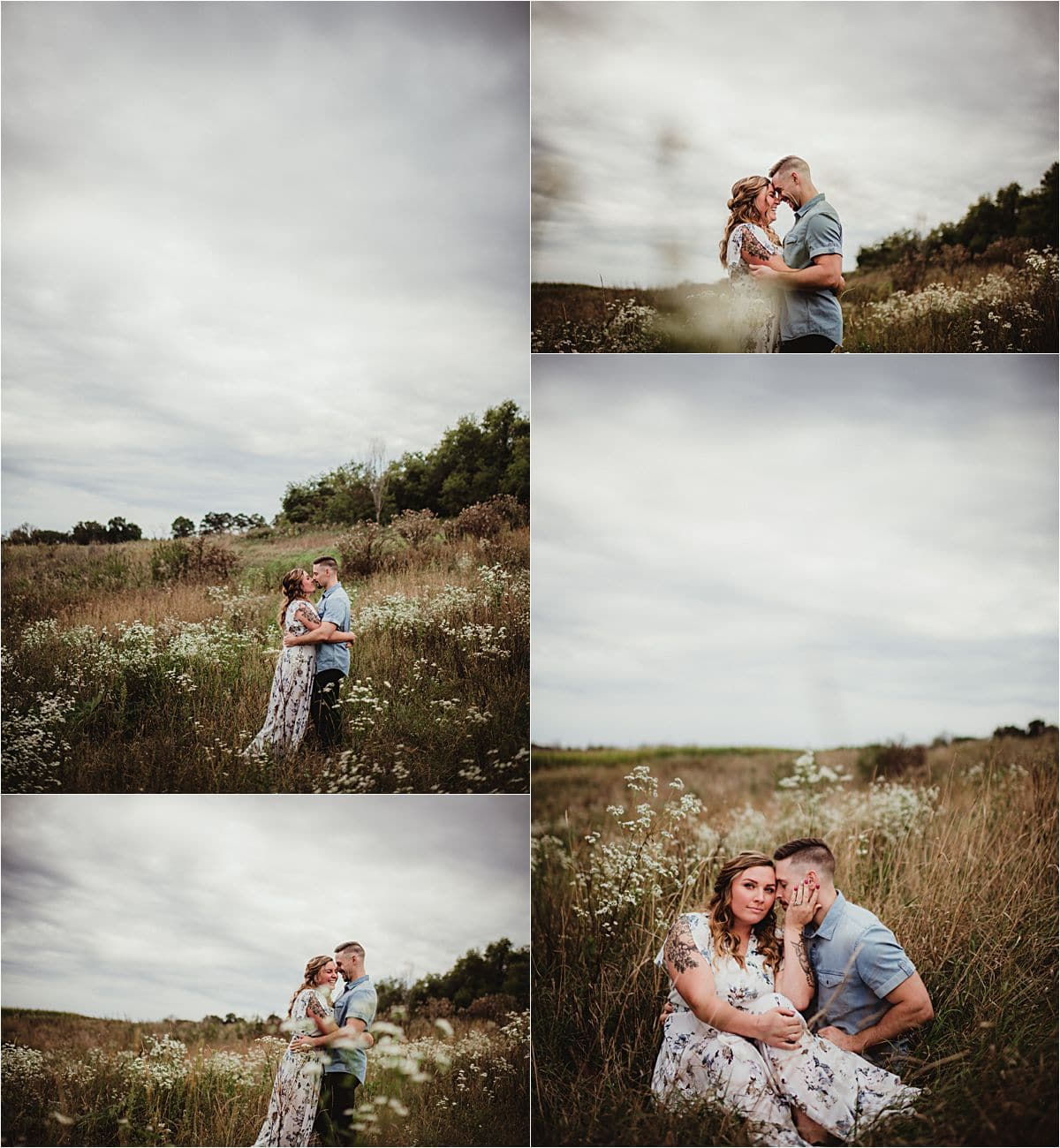 Moody Skies Couple's Session in Field