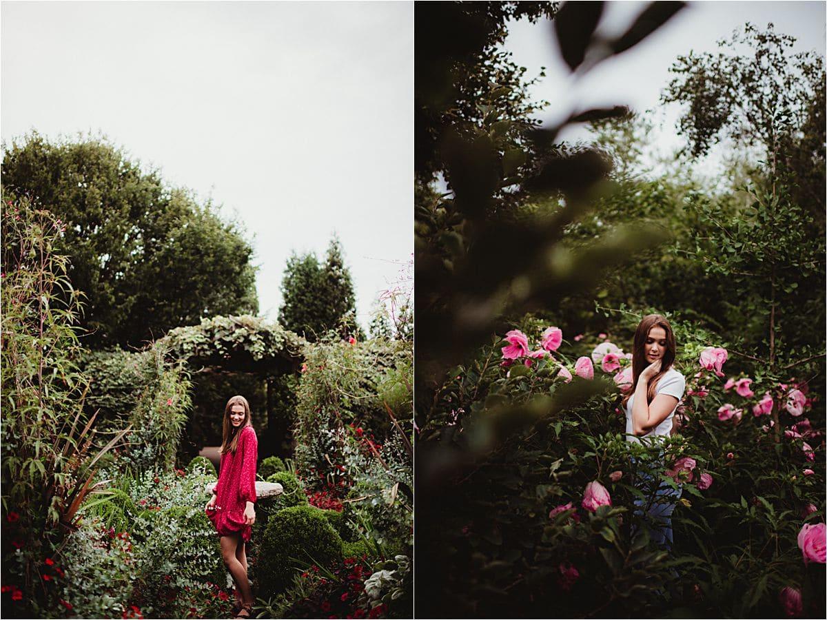 High School Girl in Flowers