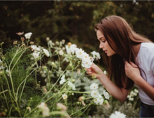 Olbrich Botanical Gardens Summer Senior Session | Madison, Wisconsin