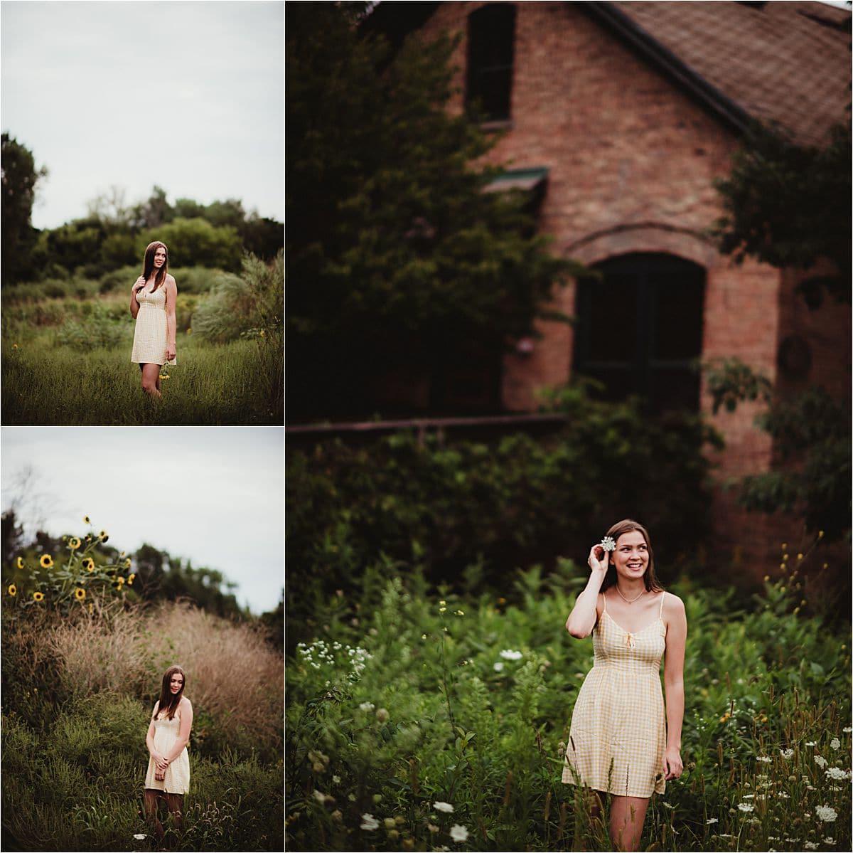 Girl in White Dress Outside
