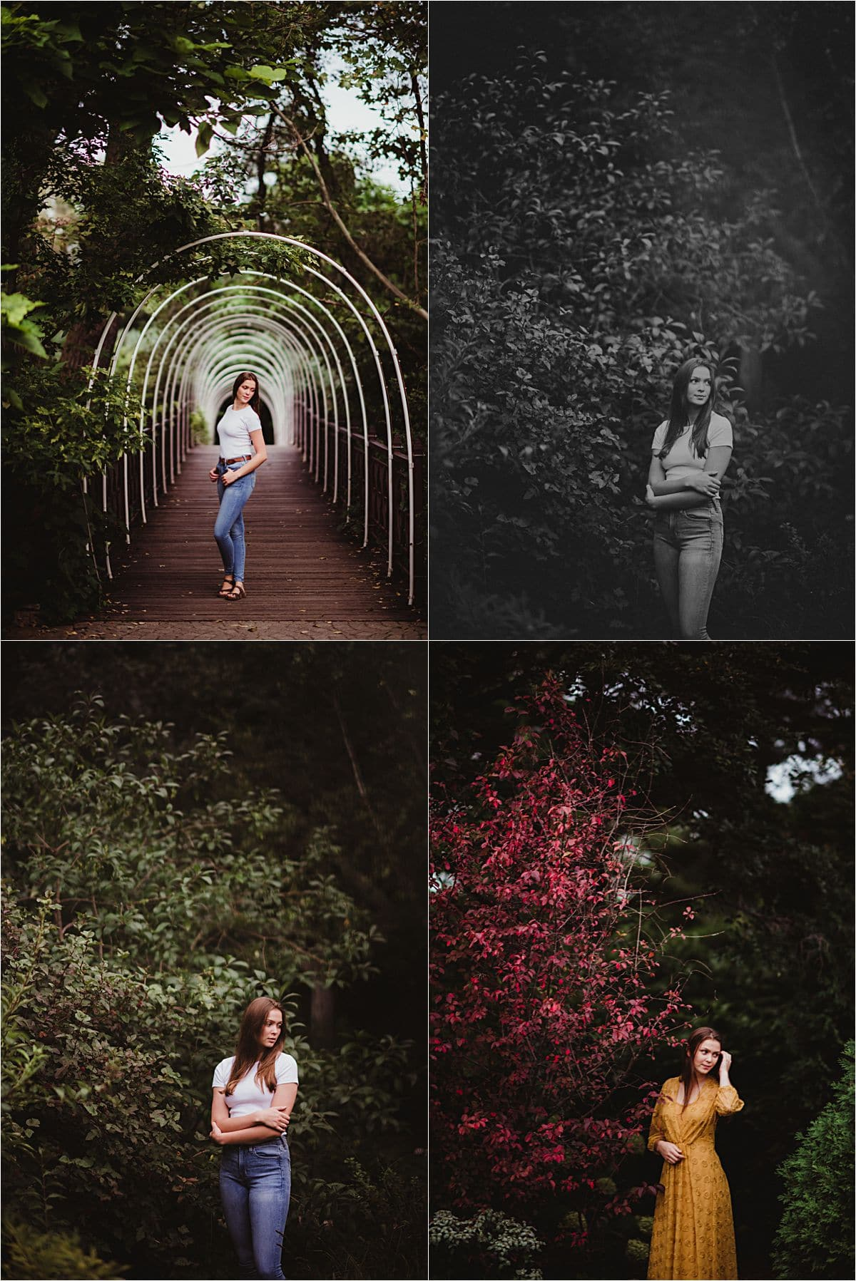 Senior Session Girl in Different Outfits
