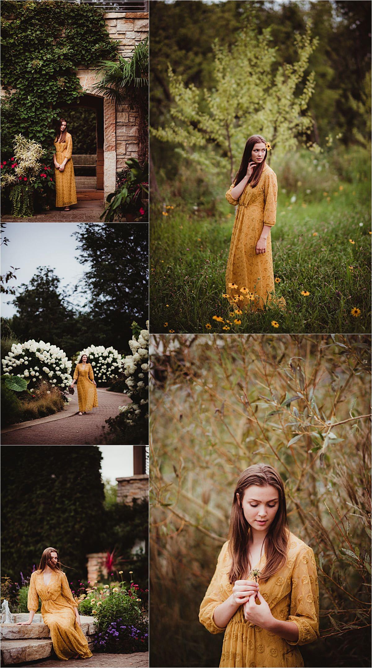 Girl in Yellow Dress Outside
