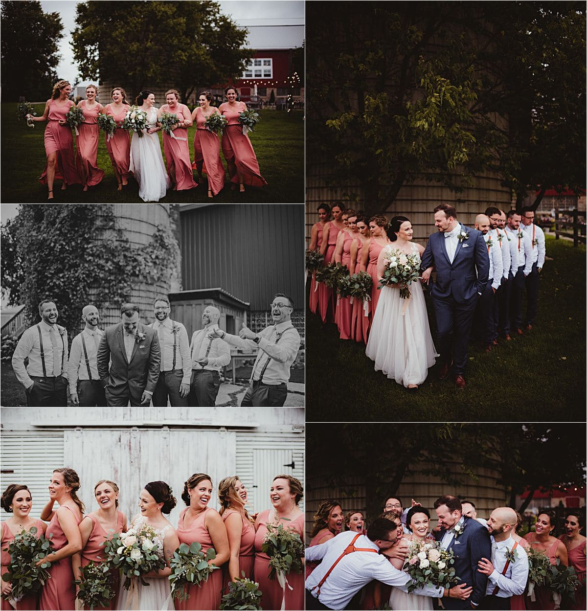Vintage Fields Fall Wedding Party