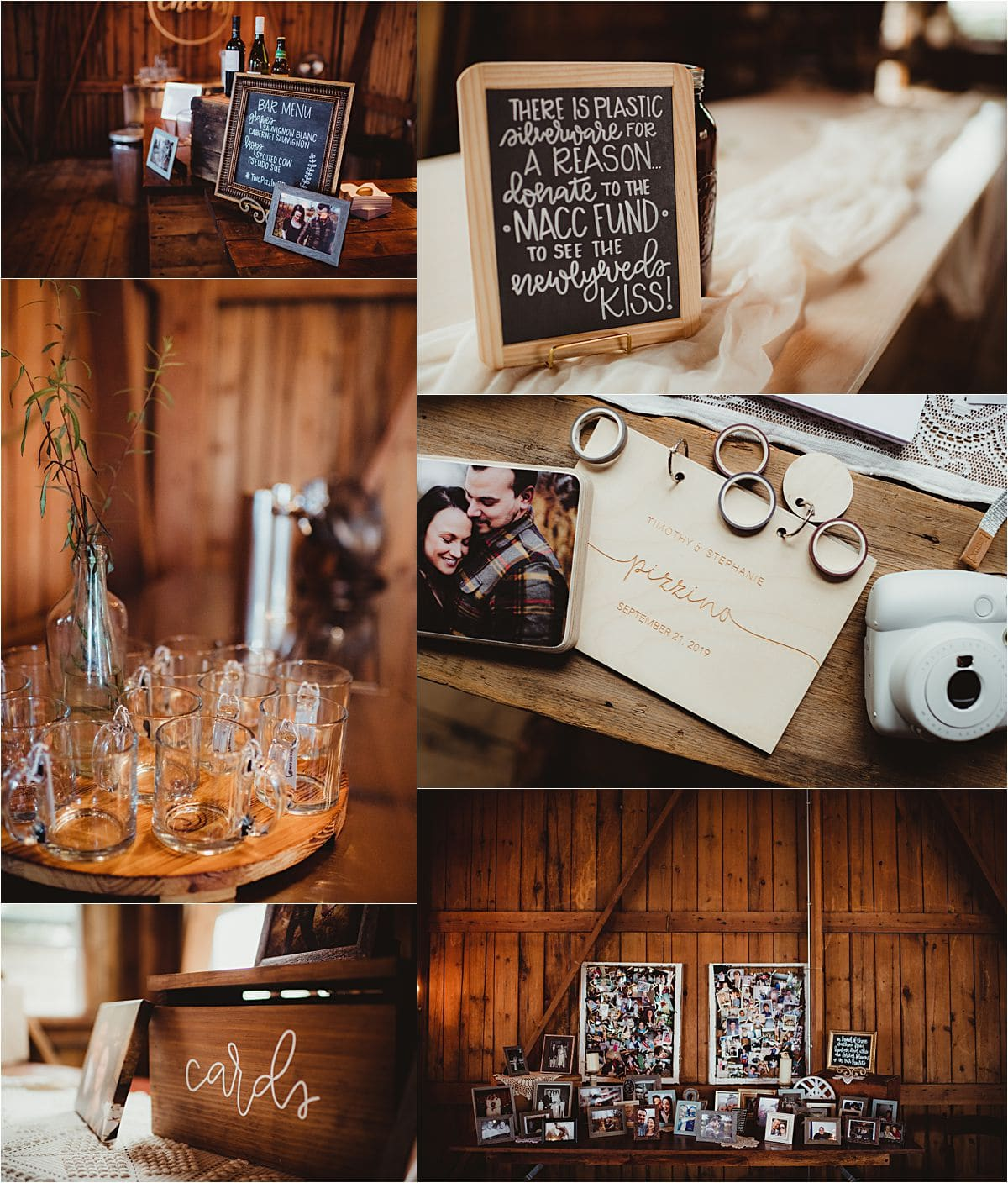 Vintage Fields Fall Wedding Reception Details