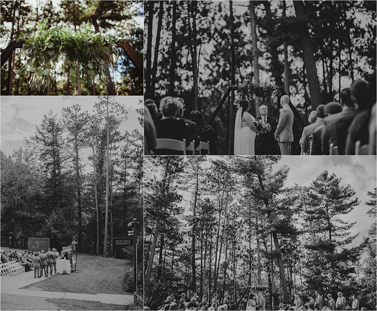 WI Outdoor Wedding Woods Ceremony