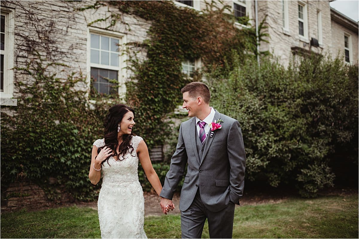 University Summer Wedding Bride and Groom First Look
