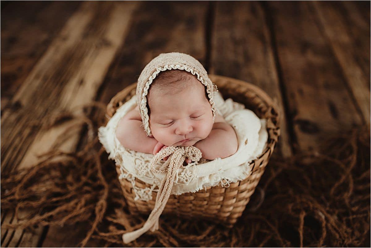 Newborn Girl in Basket