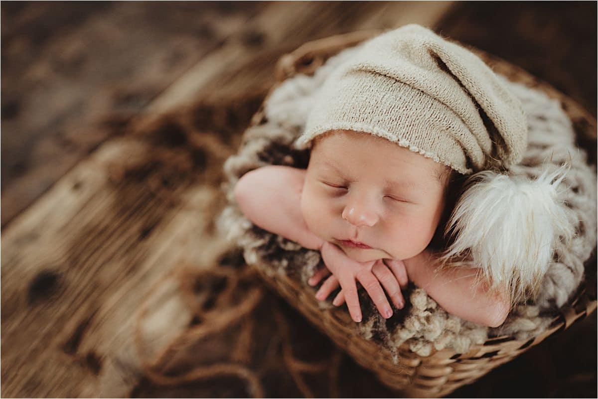 Newborn Boy Wearing Hat