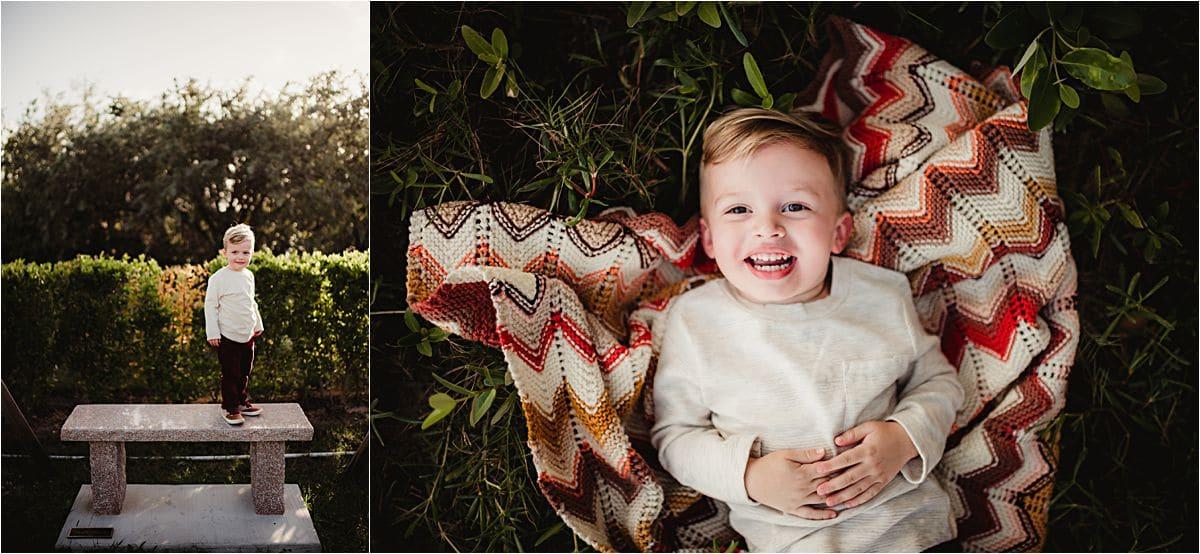 Little Boy on Blanket Close Up