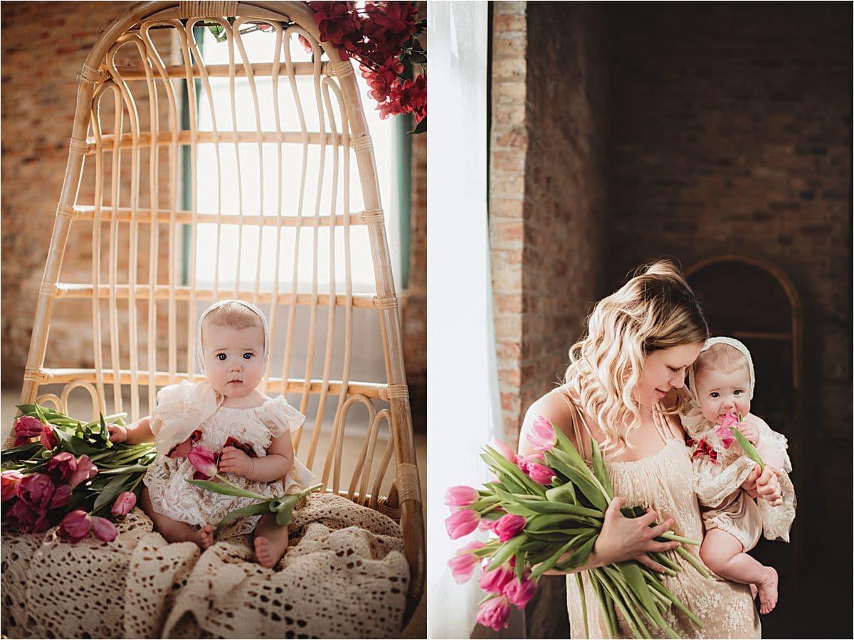 Mommy and Baby Tulips Brick Studio