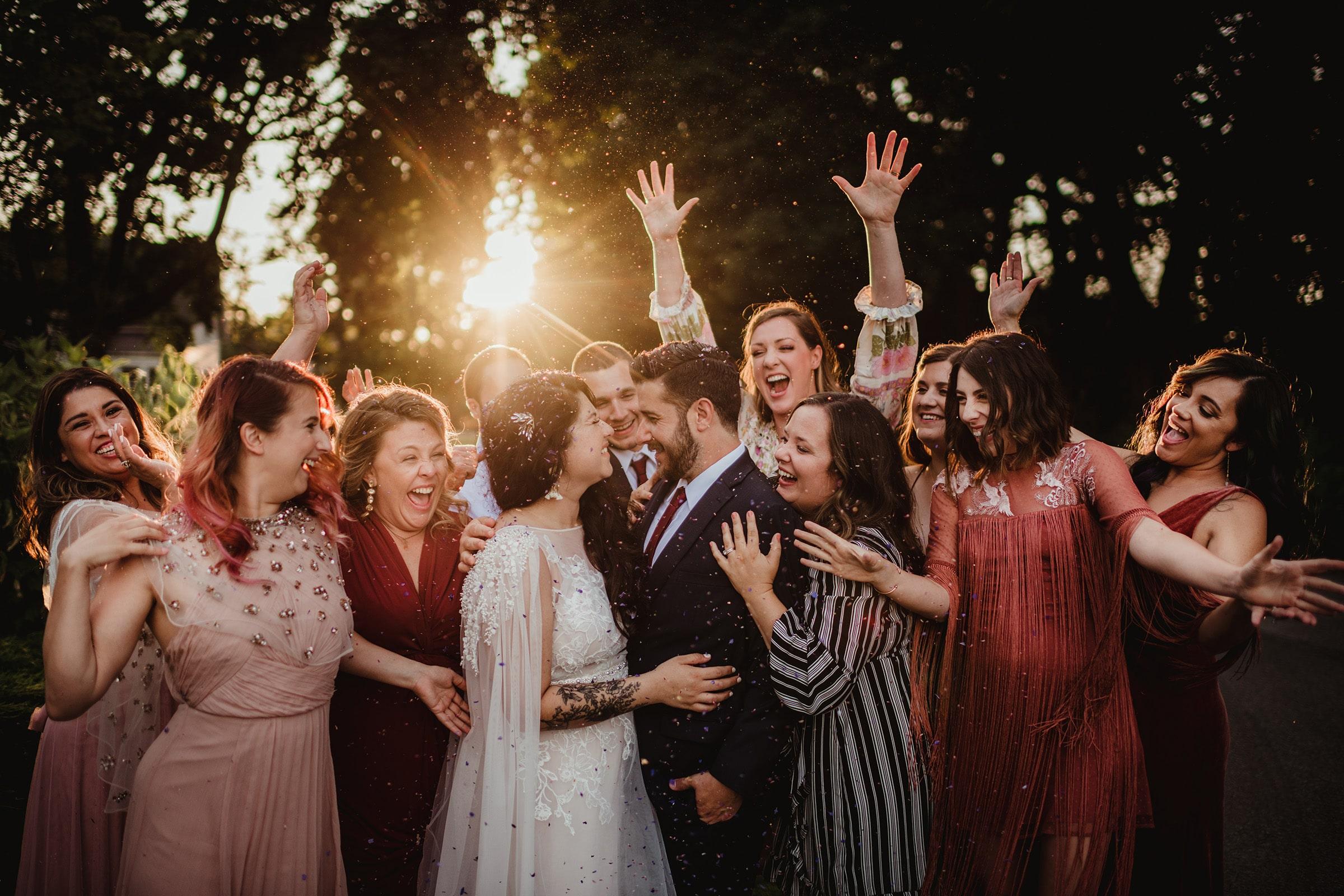 Wedding Giveaway Bridal Party Celebrating